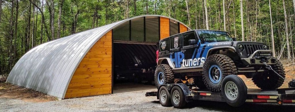 HP Tuners Jeep strapped to a trailer