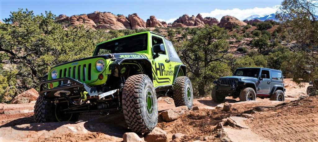 HP Tuners equipped Jeeps rock crawling