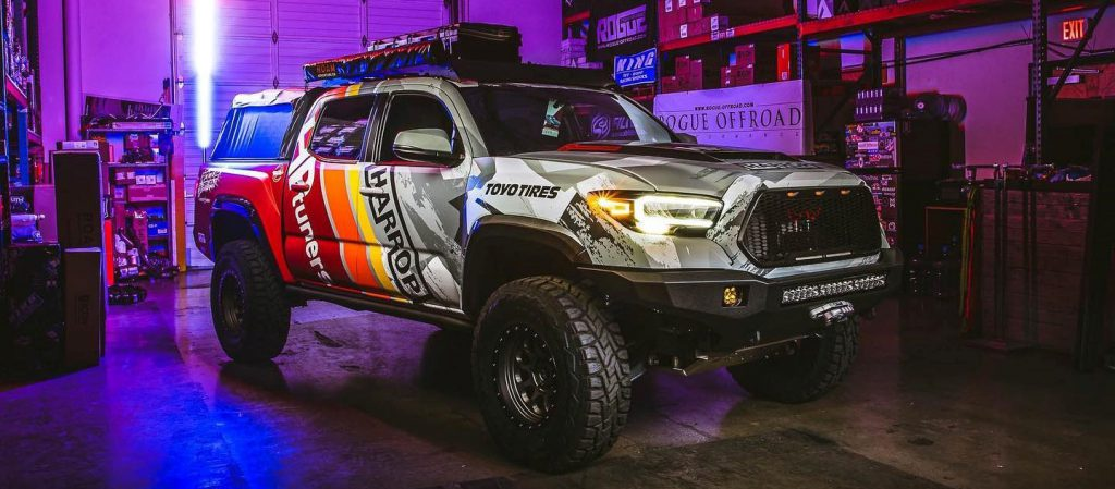 Toyota Tacoma built by Rogue Offroad in collaboration with HP Tuners and Harrop Performance.
